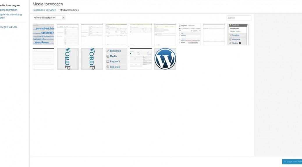 WordPress media - Media toevoegen - Handleiding WordPress door Compass Creations webdesign Gouda
