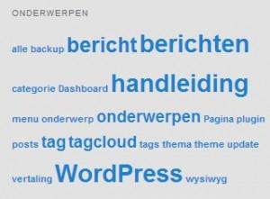 WordPress berichten - tagcloud - Handleiding WordPress door Compass Creations webdesign Gouda
