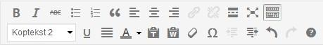 WordPress WYSIWYG iconen - Handleiding WordPress door Compass Creations webdesign Gouda