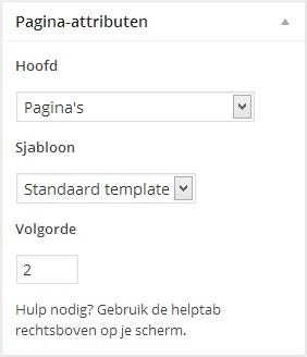 WordPress paginas - pagina attributen - Handleiding WordPress door Compass Creations webdesign Gouda
