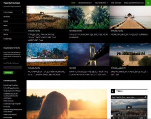 WordPress weergave - thema theme twenty fourteen 2014 - Handleiding WordPress door Compass Creations webdesign Gouda