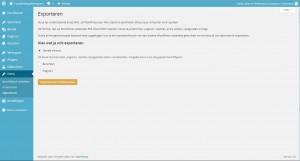 WordPress extra - exporteren - Handleiding WordPress door Compass Creations webdesign Gouda