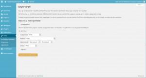 WordPress extra - exporteren berichten - Handleiding WordPress door Compass Creations webdesign Gouda