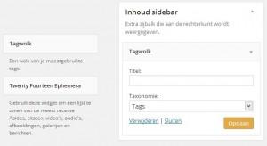 WordPress tagcloud - Handleiding WordPress door Compass Creations webdesign Gouda