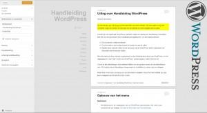 WordPress weergave - aanpassen - Handleiding WordPress door Compass Creations webdesign Gouda